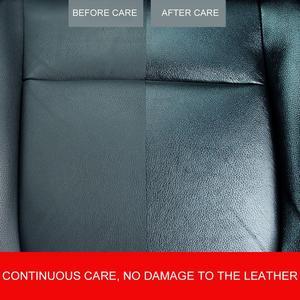Image 4 - מקצועית 1 pc 120 ml רכב מושב טיפול שעוות עור מנקה רכב פנים בית רב תפקודי טיפול סוכן עם מגבת