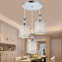 Modern Crystal Ceiling Lamps LED Lamps Living Room Dining Room Glass Ceiling lamp led lustre light ceiling lights cheap Smuxi 5-10square meters Kitchen Bed Room Foyer Study 220V Knob switch LED Bulbs Daily Lighting None Through-Carved Dining Room Chandelier