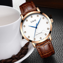 цена на CIVO Men Fashion Quartz Clock Male Leather Sport Wrist Watch Relogio Masculino Genuine Leather Quartz Wrist Watches Men Clock