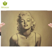Marilyn Monroe Poster Kraft Paper Wall Poster DIY Wall Art 21 inch X 14 inch Art wall pictures Painting No frame High quality(China)