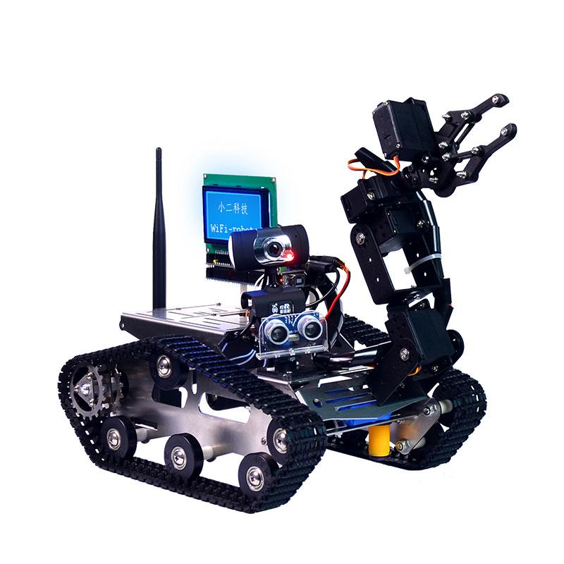 Умный робот бак Xiao R DIY с Wi Fi видео управлением, автомобиль с дисплеем для Arduino 2560