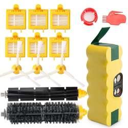 3500 мАч сменный никель-металлогидридный аккумулятор Roomba батарея и боковые щетки и beater щетка и фильтр и боковая щетка замена аксессуар часть