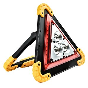 Foldable Windproof Reflective Safety Triangular Warning Sign for Traffic Accident Broken Car Tripod Dangerous Fault Stop Sign
