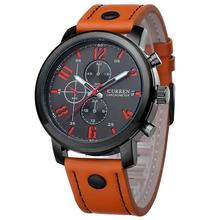 лучшая цена CURREN 8192 Mens Watches Top Brand Luxury Leather Strap Quartz Watch Men Casual Sport Drop Shipping Male Clock Relogio Masculino