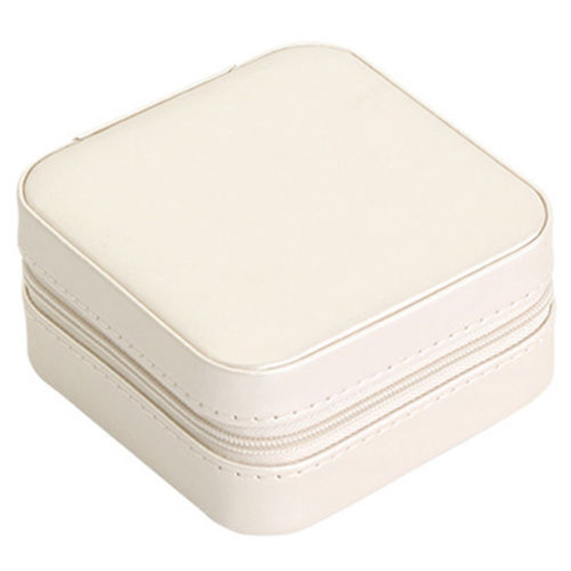 Portable Jewelry Box Organizer Travel PU Ornaments Case Storage UK Local