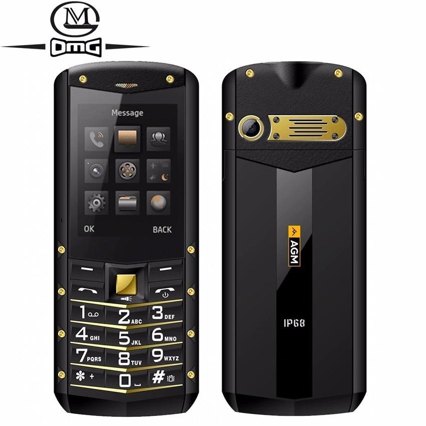 Купить AGM M2 телефон с русской клавиатурой водонепроницаемый противоударный с IP68 сотовые телефоны Dual SIM FM фонарик 1970 мАч мобильного телефона на Алиэкспресс