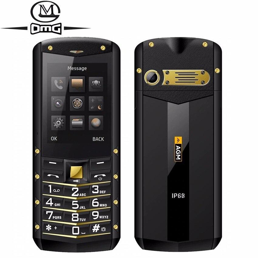 Téléphone à clavier russe AGM M2 IP68 étanche aux chocs téléphones portables double SIM FM lampe de poche 1970 mAh téléphone mobile