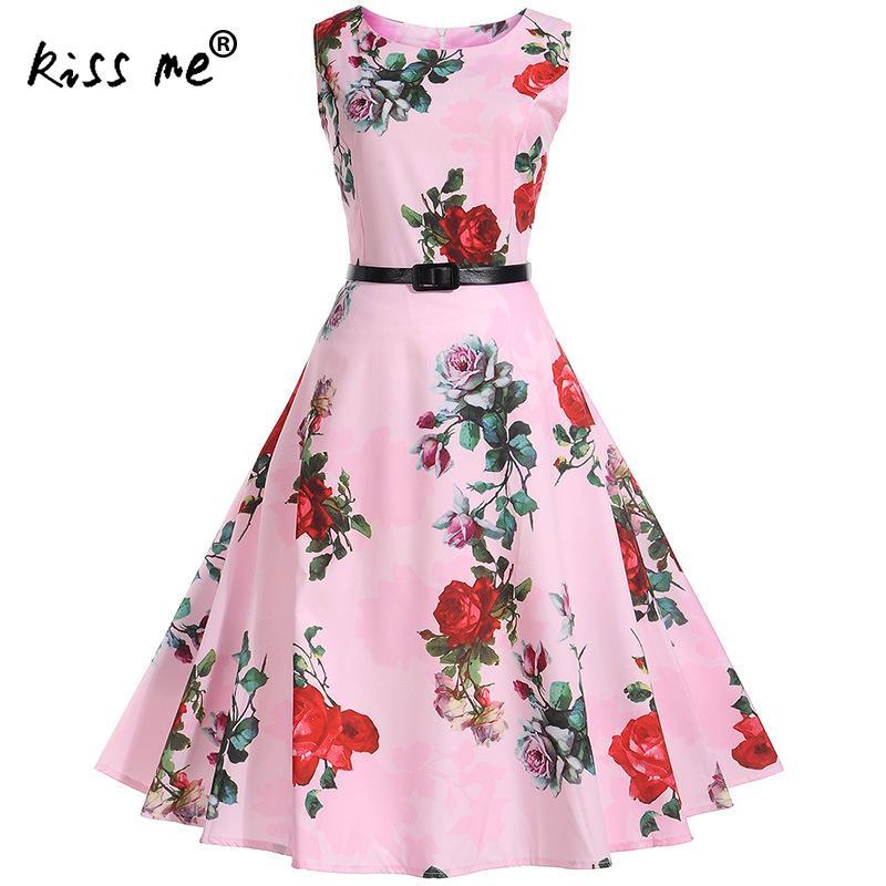 2017 Saidas De Praia pink flower sexy robe dashiki 1970s Princess with belt sleeveless beachwear dresses vintage beach dresses