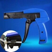 1pc Mini Adjustable Fastener Cutting Nylon Cable Tie Gun Nylon Fastener Tie Cutting Tensioning Fastening Tool Usful Home Tool