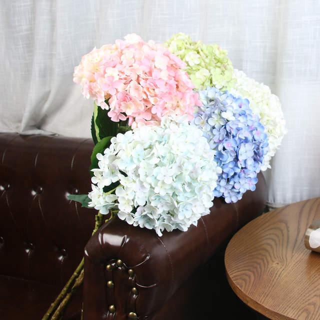 Big Size Silk Artificial Flowers Hydrangeas Bridesmaid Bridal