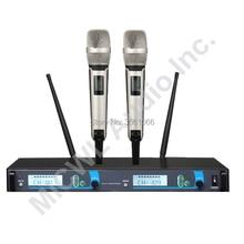 100% Nova Marca MICWL SKM9000 2 skm 9000 Performance de Palco KTV Sem Fio Handheld Sistema de Microfone Vocal