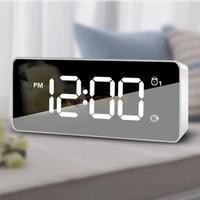 Digital LED Mirror Alarm Clock LED Table Time Bedside Clock Desktop Watch Home Bedside Digital Alarm Time