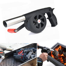 Outdoor Camping BBQ Grill Fan Air Blower Picnic Barbecue Cooking Hand Crank(China)