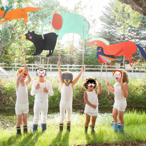 Image 3 - Creative 10Pcs Funny EVA Children Animal Mask Mask Kids Woodland Farm Dress Prop Birthday Party Decoration