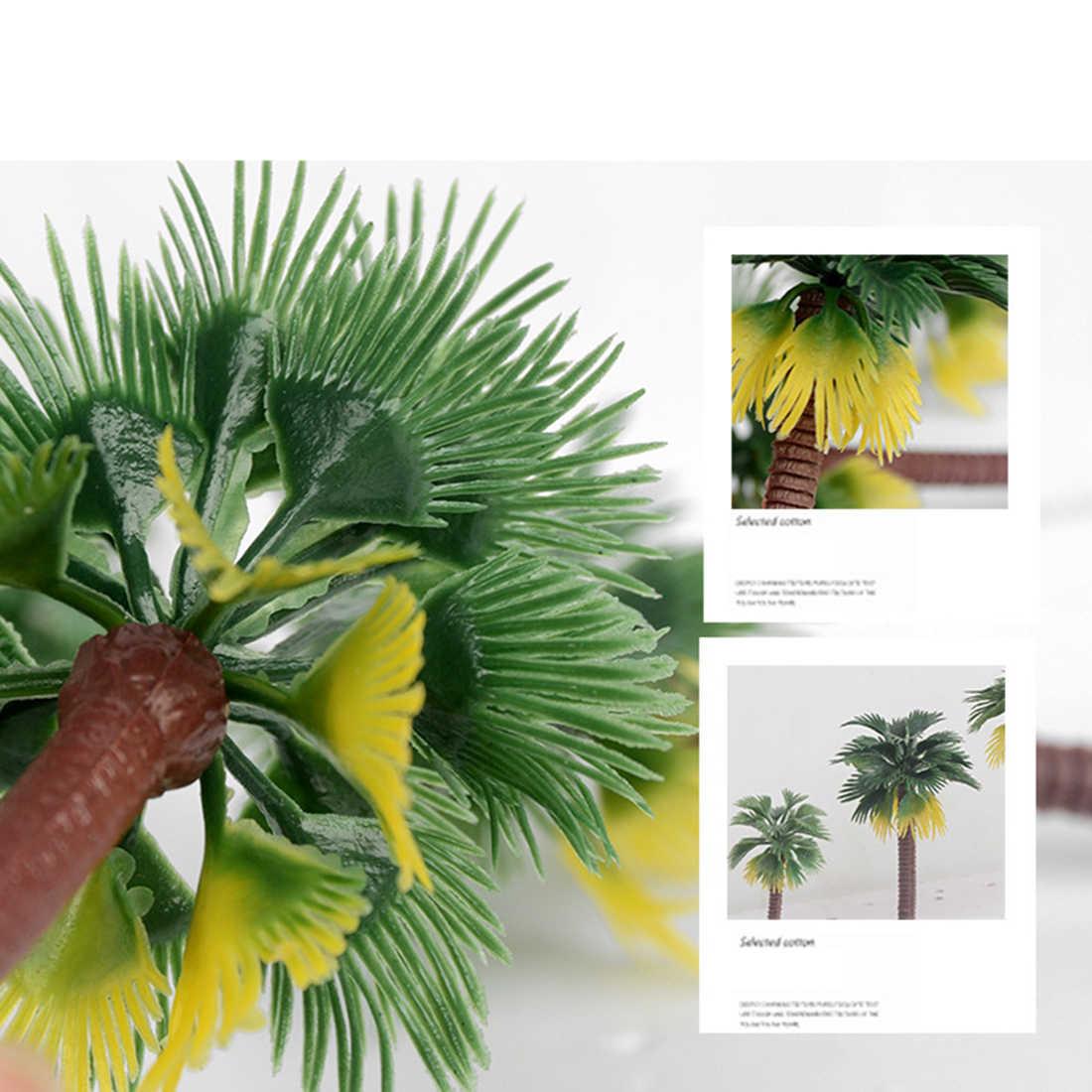 10/12 sztuk 7/9/12/15cm z tworzywa sztucznego palma kokosowa pociąg Railroad architektury Diorama palma kokosowa zestaw klocków