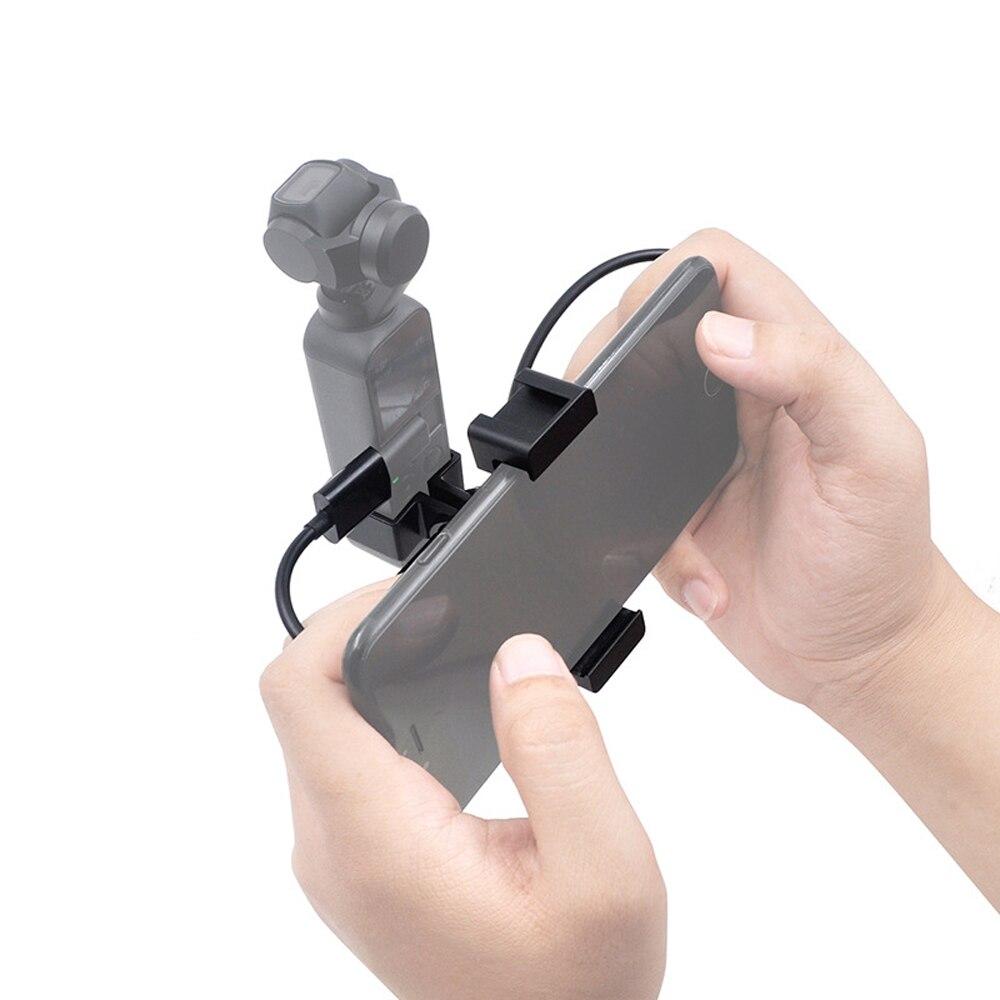 For DJI OSMO Pocket Gimbal Handheld Gimbal Phone Clip Adapter Converter Gimbal Expansion Bracket Mounting Photography Accessory