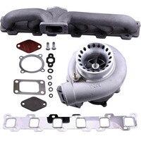 Turbocharger Kit T3 Turbo Manifold For Nissan Safari Patrol 4.2L TD42 GQ Y60 Y61 TB42 TB45 GT35 GT3582 Universal Turbo charger