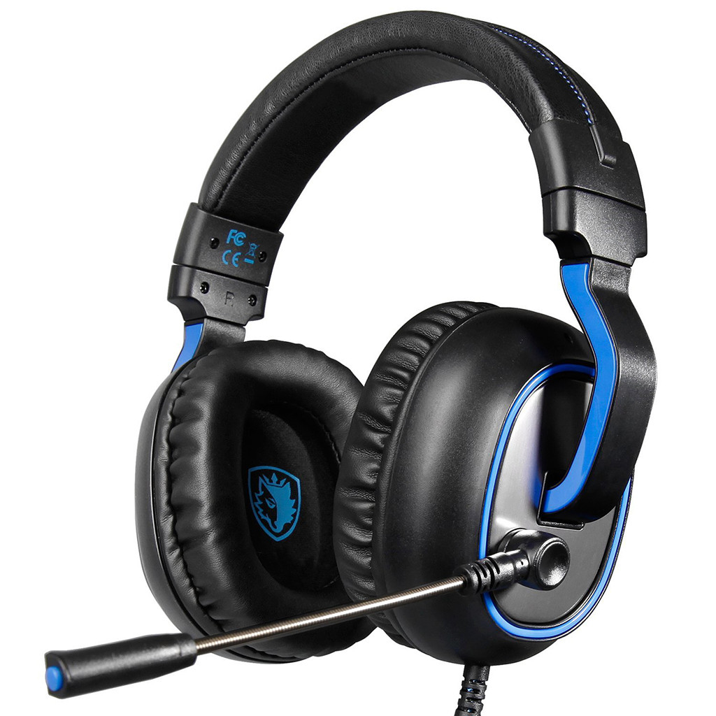 New Fashion Sades R4 Gaming Headset 3.5mm Over-ear Headphone Microphone For /pc/ps4/xbox One Noise Canceling Headphone