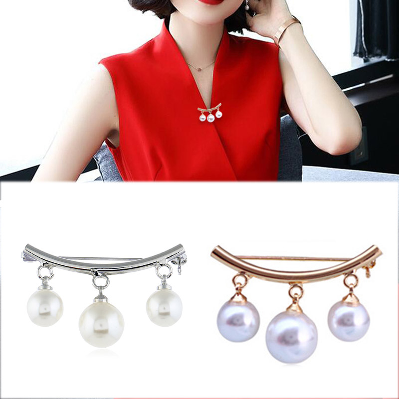 New Fashion Brooch White Pearls Crystals Casual Office Pin Gifts Soft And Antislippery Fashion Jewelry Pins & Brooches