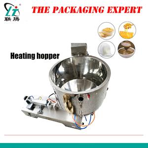 Chocolate Honey Cream Hot Juice Sauce Jam Filler Paste Filling Machine Safe Fully Sealed Heating Hopper Heater Pneumatic Piston