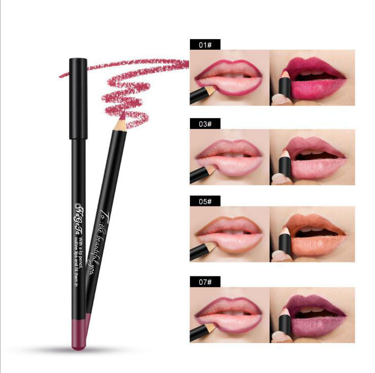 12 Colors Sexy Matte <font><b>Lip</b></font> Stick Lipliner <font><b>Lip</b></font> Liner Pencil Matt Nude Lipsliner Pen <font><b>Set</b></font> Beauty <font><b>Makeup</b></font> Tool Cosmetic image