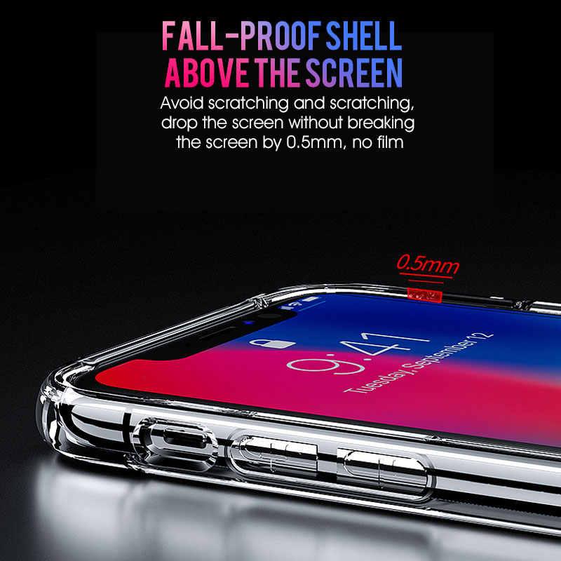 กันกระแทกกรณีซิลิโคนใสสำหรับ iPhone X XS 11 PRO MAX XR เปลือกโทรศัพท์นุ่มสำหรับ iPhone 6 7 8 PLUS 11 ปกหลัง