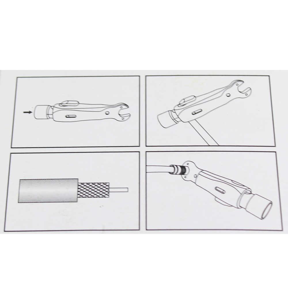 RG59/6 קואקסיאלי כבל פין חוט חשפנית אוטומטי חוט חשפנית רב תכליתי חשפנית עם משושה ראש