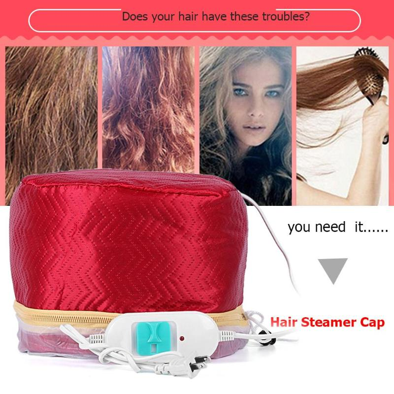 EU Plug 3 Modes Adjustable Hair Steamer Cap Dryers Electric Hair Heating Cap Thermal Hair Treatment Caps Beauty SPA