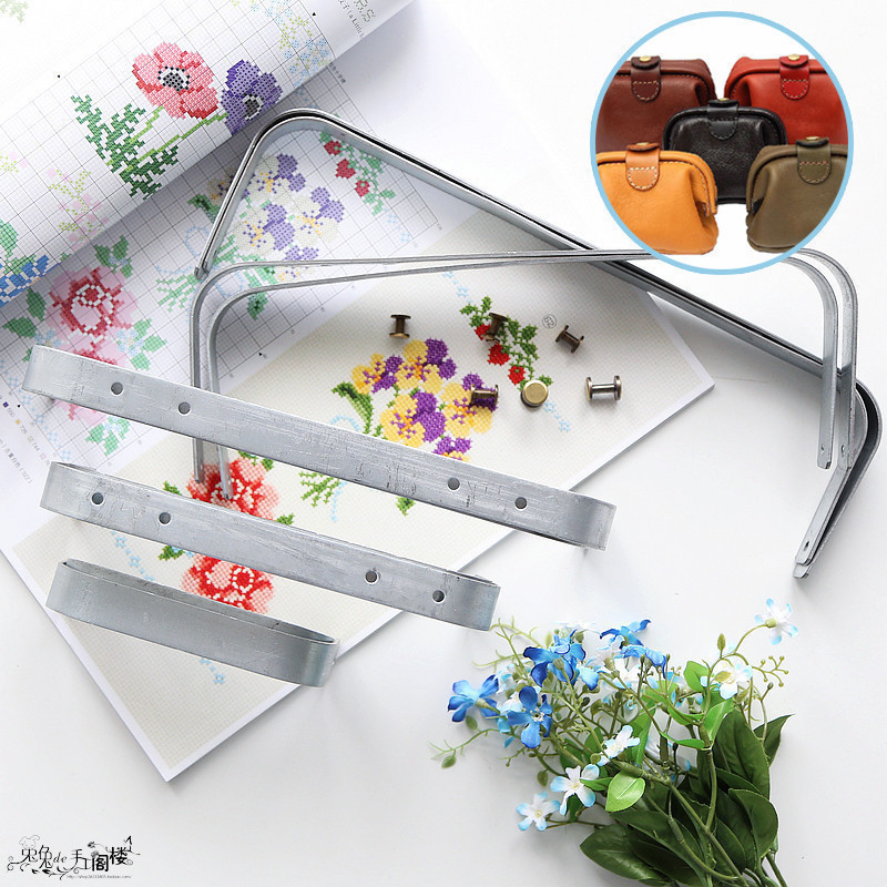 Luggage & Bags Special Section Metal Parts 12cm /30cm Doctor Mouth Bag Metal Frame Send Drawing Silver Screws Sewing Purse Frame Diy Handbags Accessories In Short Supply