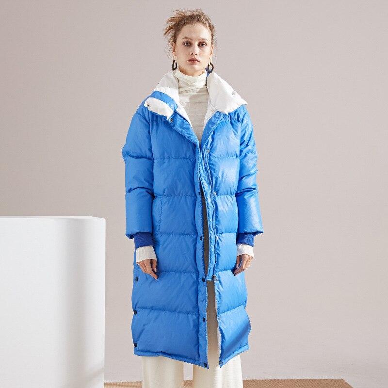 Down   Jackets Woman 2018 winter women's fashion long   down     coat   long sleeve loose   Down   Jackets Women for winter 6689