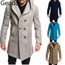 2019 Autumn Winter Mens Long Trench Coat Fashion Boutique Wool Coats B