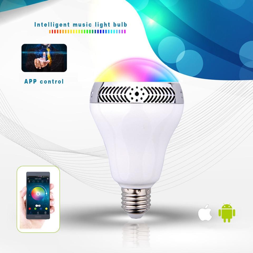 Ampoule bluetooth avec haut-parleur lumières musique jouer dimmable intelligent E27 app contrôle led lampe à ampoule led intelligente préfet pour la fête