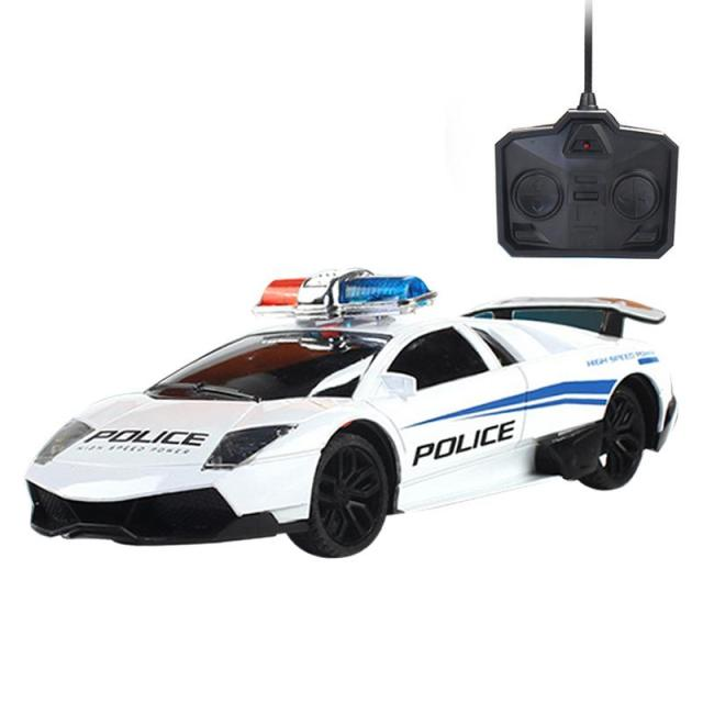 Remote Control Car Children S Toy Model Four Wheel Drive Racing Light Charging Police Wireless Electric
