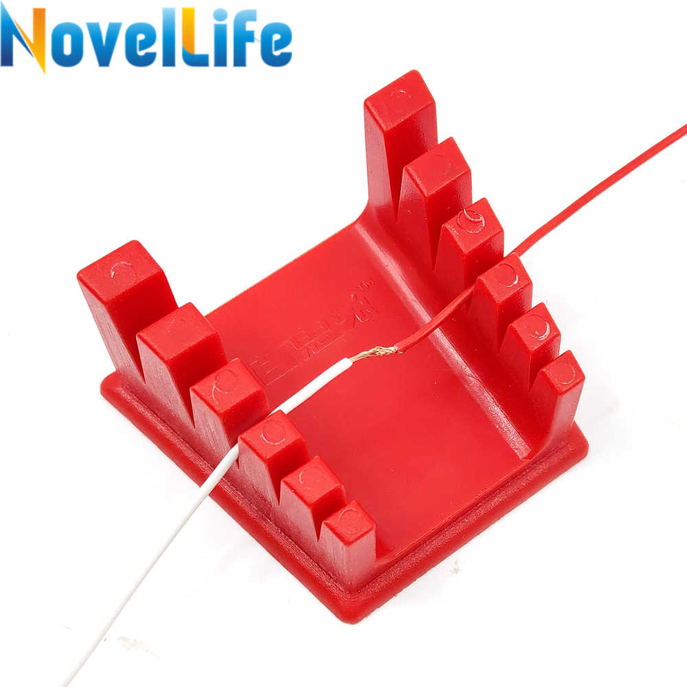 Soldering Wire Leads Clamp Stand Cable Connection Fixture Magnetic Holder Base for 30AWG to 12AWG