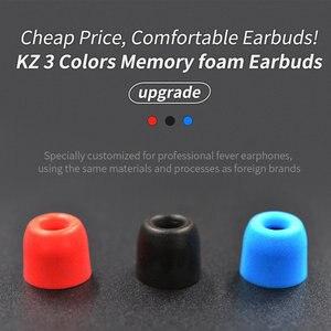 Image 2 - KZ oryginalne końcówki słuchawek dousznych z pianki memory 3 pary (6 sztuk) izolacja hałasu wygodne wkładki do uszu douszne słuchawki douszne do słuchawek KZ ZSX ZS10 Pro