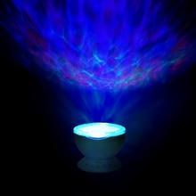 المحيط موجة العارض التحكم عن بعد العارض مصباح 7 اللون تغيير مشغل موسيقى كشاف ضوئي ليلي للأطفال الكبار غرفة نوم