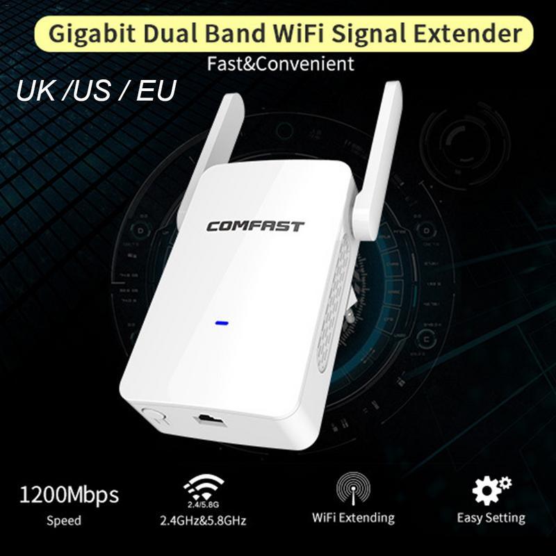 Dual-Antenna Ap Router Wifi Expander WISP Signal-Amplifier External 1200M 300/867mbps