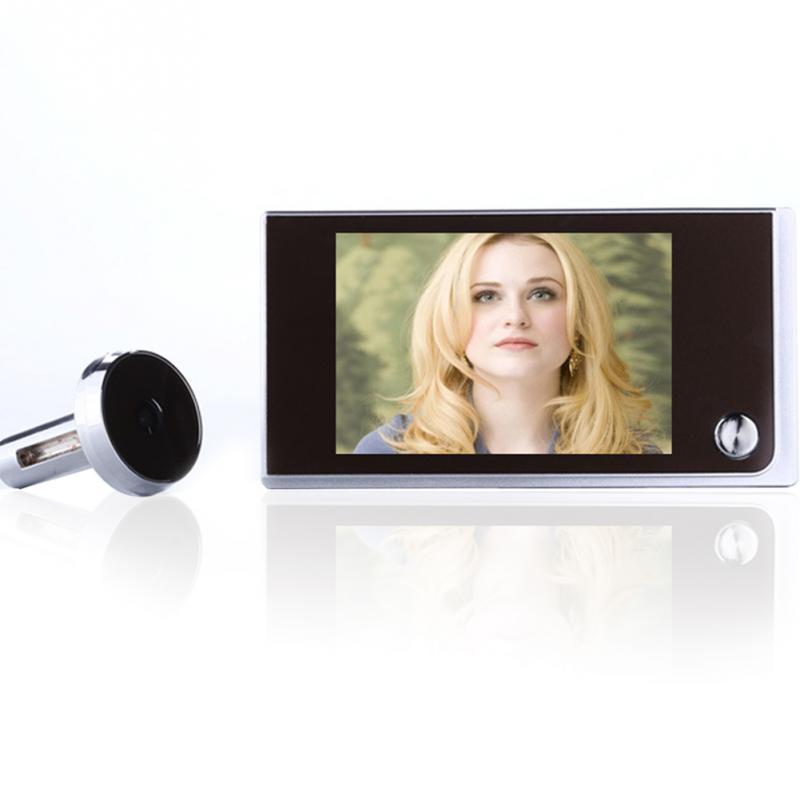Multifonction Home Security 3.5 pouces LCD Couleur Numérique TFT Mémoire Porte Judas Spectateur Sonnette Caméra de Sécurité Marque Nouvelle 2017