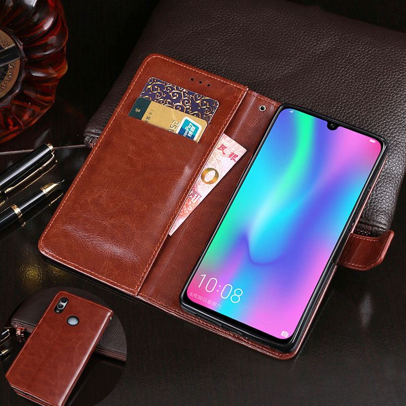 P Smart 2019 PU Leather <font><b>Flip</b></font> Wallet Phone <font><b>Case</b></font> Cover on sfor Huawei P30 Lite Cards Holder Stand Capa sFor P Smart Plus <font><b>Honor</b></font> <font><b>7X</b></font> image