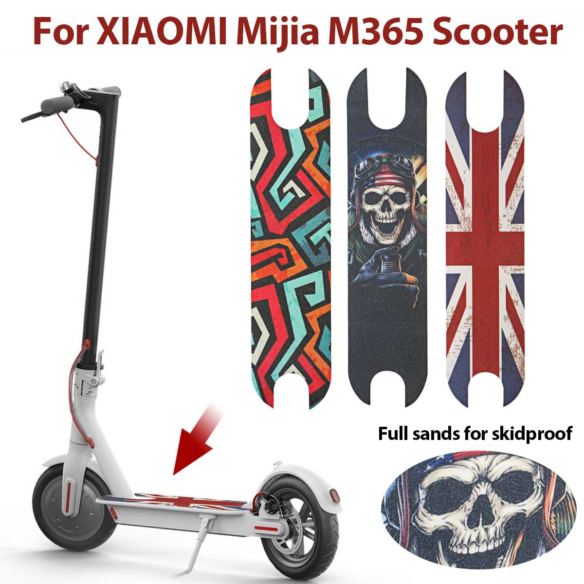 DIY Scooter Pedal Footboard Non-slip Stickers Sandpaper for XIAOMI Mijia  M365 Electric Scooter Skateboard Grip Tapes