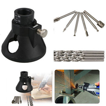 Replaceable Multi Rotary Tool Cutting Guide Attachment Kit HSS Router Drill Bits for Dremel Tool Parts Sets cutting tool