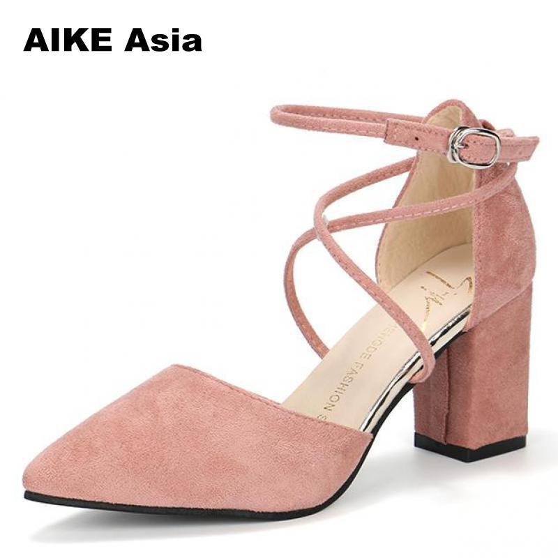 87f64ca16b Sandálias gladiador Das Mulheres Sapatos de Bico fino Sexy Bombas Sapata  Das Senhoras Zapatos Mujer sapatos