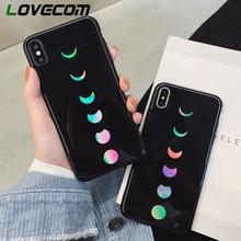 LOVECOM láser Eclipse de luna teléfono casos para iPhone 11 Pro Max XR XS Max 6 6S 7 7 Plus X de IMD cubierta del teléfono regalos