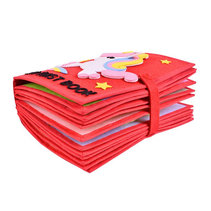 Livre en tissu non tissé matériel garçons filles enfant jouet éducatif lavable multi-fonctionnel livre en tissu bébé premier livre