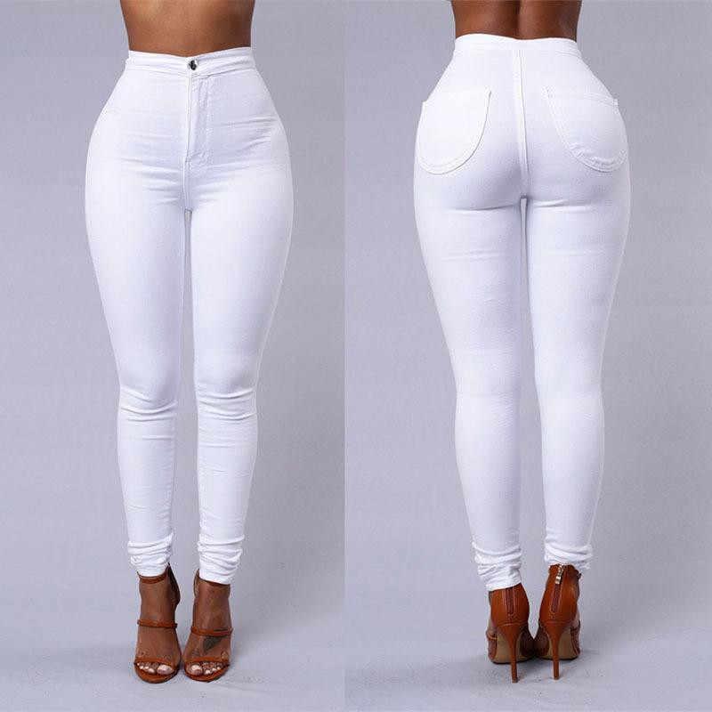 女性のズボン 2019 ハイウエストストレッチスリム鉛筆のズボン女性の衣服パンツセクシーな女性のプラスサイズスキニーパンツ S-3XL