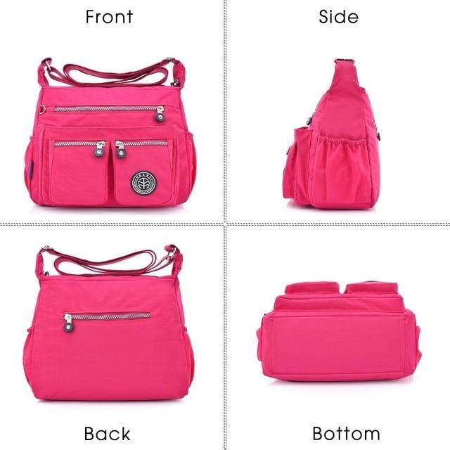 TTOU Ladies Fashion Shoulder Bags for Women Designer Waterproof Nylon Handbag Zipper Purses Messenger Crossbody Bag sac a main 4