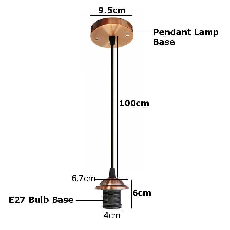 E27 조명 인테리어 샹들리에 천장 샹들리에 공예 나사 천장 장미 램프 PVC 패브릭 플렉스 램프 AC110V