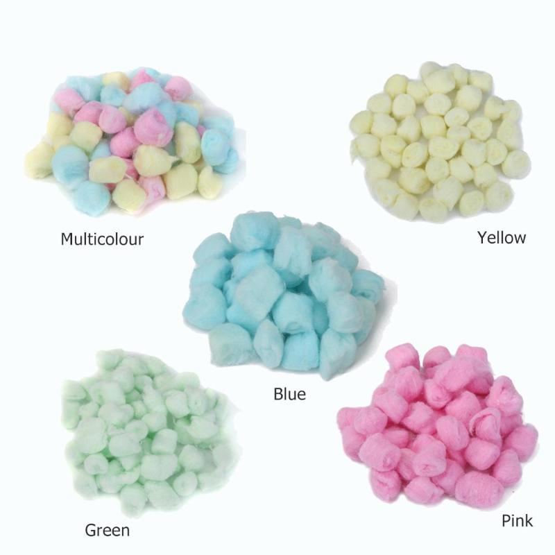 100Pcs/lot Winter Keep Warm Cotton Ball Cute Cage House Filler For Hamster Rat Mouse Small Animals House Decor