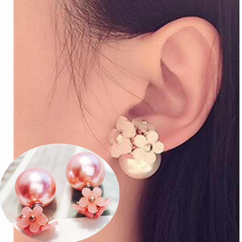Happy New Year /& Christmas Decorations M and F 12 Pair//Set Women Square Crystal Heart Stud Earrings for Women Piercing Simulated Pearl Flower Earrings Set Gift Jewelry Style