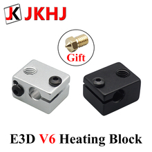3D Printer Parts E3D V6 Hotend Heating Accessories Block for RepRap Makerbot Extruder Heated Block Kit 1 стоимость